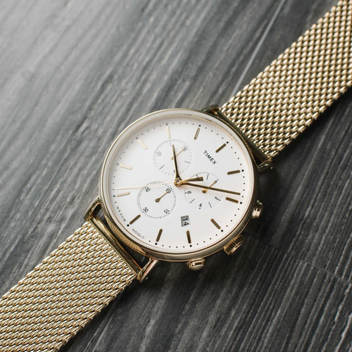 Timex Fairfield Chrono Gold Mesh (TW2R27200VQ)
