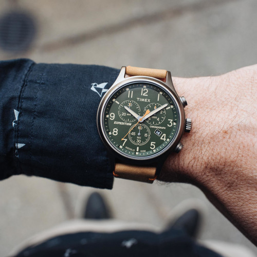 2f59173e8 ... Timex Expedition Scout Chrono Green Tan (TW4B04400) ...