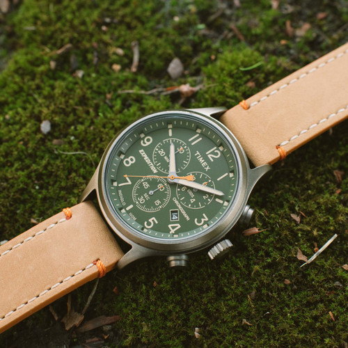 7a08654f8 ... Timex Expedition Scout Chrono Green Tan (TW4B04400) ...