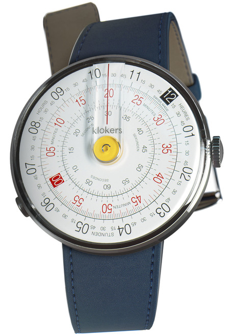 Klokers Klok-01-D1 Yellow Indigo Blue Leather (KLOK01D1KLINK01MC3)