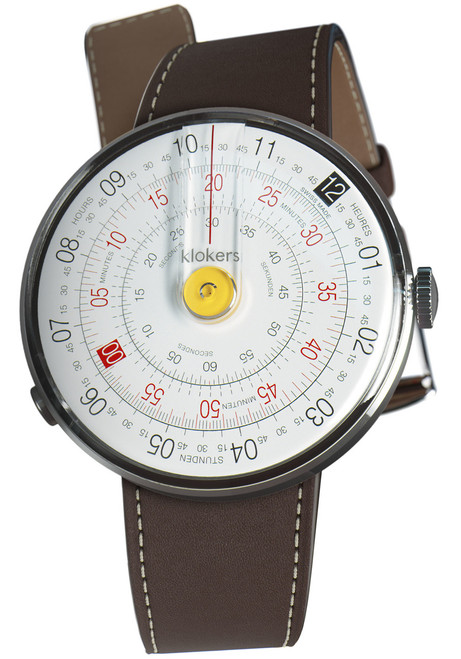 Klokers Klok-01-D1 Yellow Chocolate Brown Leather (KLOK01D1KLINK01MC4)