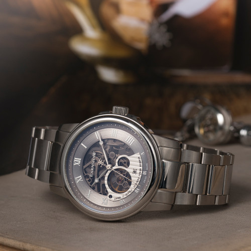 Thomas Earnshaw Beagle Silver Stainless Steel Grey (ES-0029-11)