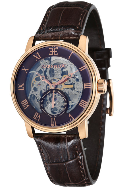 Thomas Earnshaw Westminster Hand Wind Rose Gold Brown (ES-8041-05)