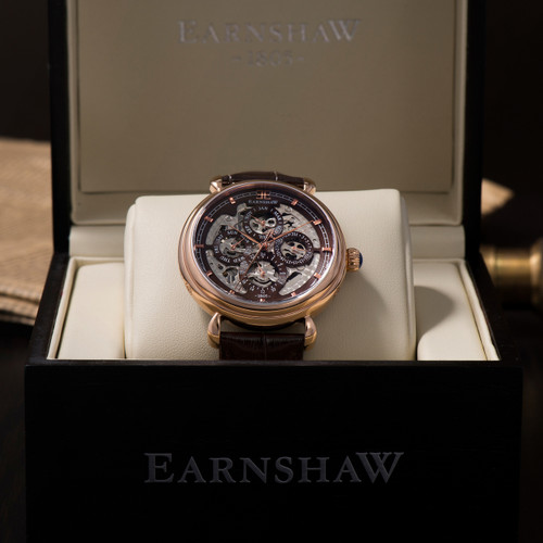 Thomas Earnshaw Grand Calendar Rose Gold Brown (ES-8043-05)