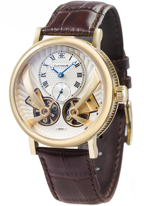 Thomas Earnshaw Beaufort Anatolia Automatic Gold Brown White (ES-8059-02)