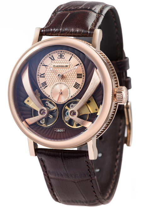 Thomas Earnshaw Beaufort Anatolia Automatic Rose Gold Brown (ES-8059-03)