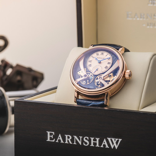 Thomas Earnshaw Beaufort Anatolia Automatic Rose Gold Blue (ES-8059-05)