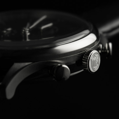 DuFa Van Der Rohe Barcelona Chrono Silver Black (DF-9021-01)