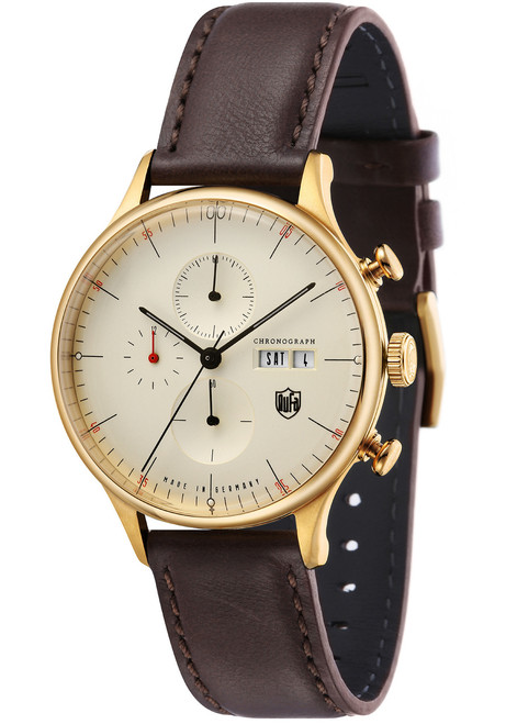 DuFa Van Der Rohe Barcelona Chrono Dark Brown Champagne (DF-9021-03)