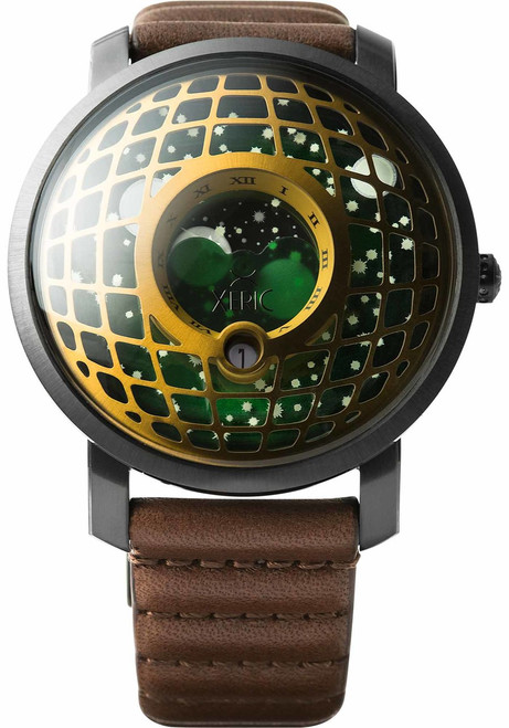 Xeric Trappist-1 Moonphase Brass Green (TMP-3017)