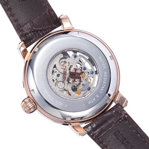 Thomas Earnshaw Longcase Automatic Rose Gold Brown (ES-8011-07)