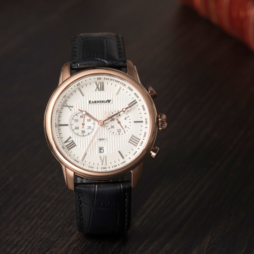 Thomas Earnshaw Longcase Longitude Rose Gold White (ES-8058-03)
