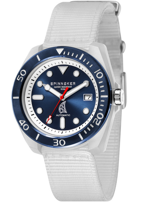 Spinnaker Marina Automatic White Blue (SP-5054-02)
