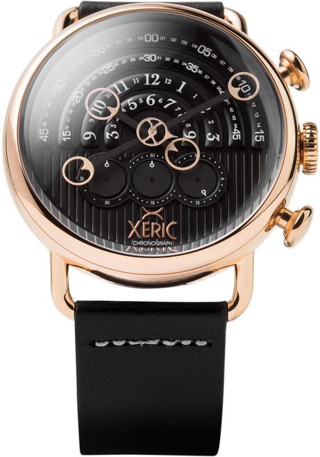 Xeric Halograph Chrono Sapphire Rose Gold Black (HCS-3018)