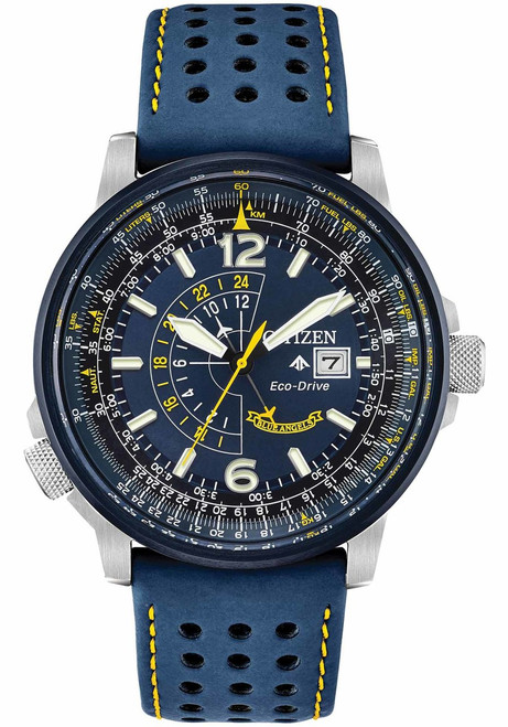 Citizen Eco-Drive Promaster Nighthawk Blue Angels Leather (BJ7007-02L)