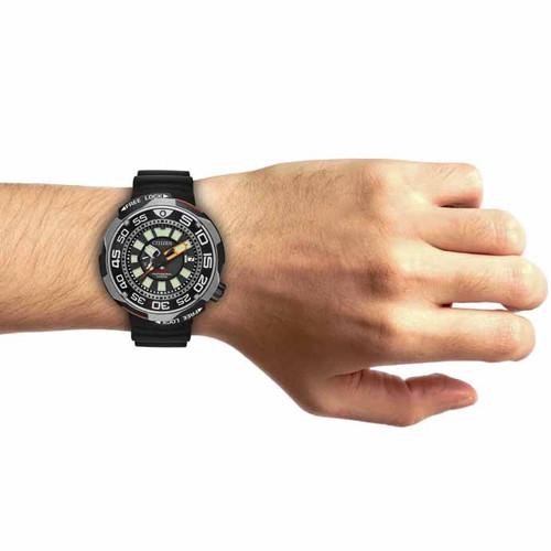 1fc3524d3 ... Citizen Eco-Drive Promaster 1000m Professional Diver Sport Silver Black  (BN7020-17E) ...