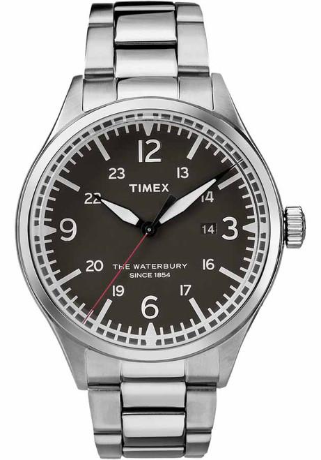 Timex Waterbury Traditional Black Silver SS (TW2R38700)