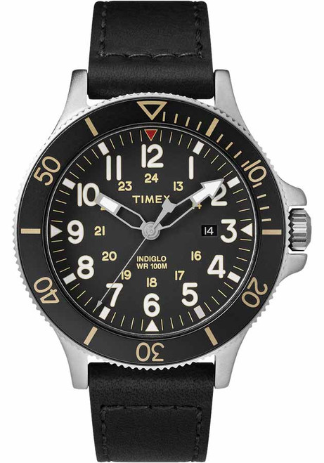 Timex Allied Coastline Silver Black (TW2R45800)
