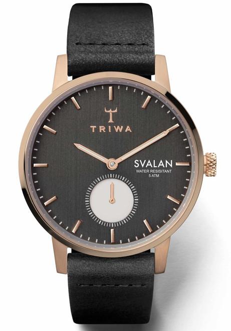 Triwa Noir Svalan Super Slim Rose Gold Black (SVST101-SS010114)