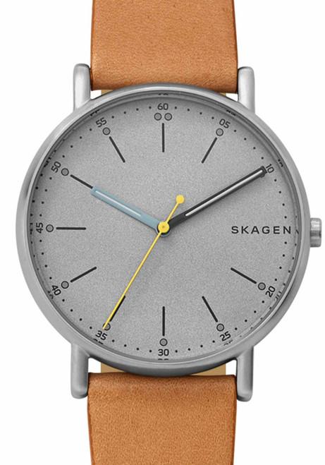 Skagen Signatur Gray Tan Leather (SKW6373)