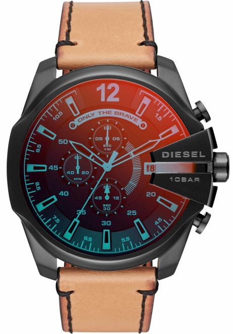 Diesel DZ4476 Mega Chief Iridescent Black Tan