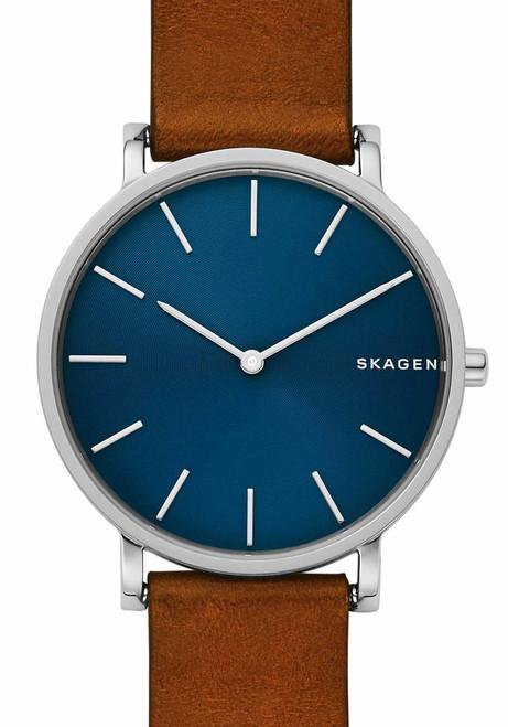 Skagen SKW6446 Hagen Slim Blue Brown Leather