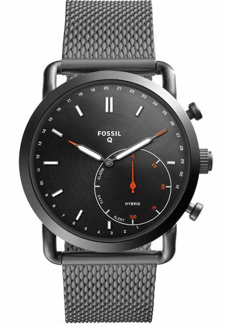 Fossil FTW1161 Hybrid Smartwatch Q Commuter Smoke Mesh (FTW1161)