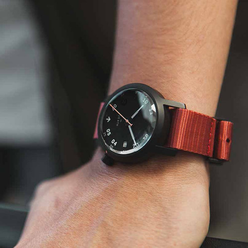 Minus-8 Anza Black Washed Red Strap (P024-017-Strap-R)