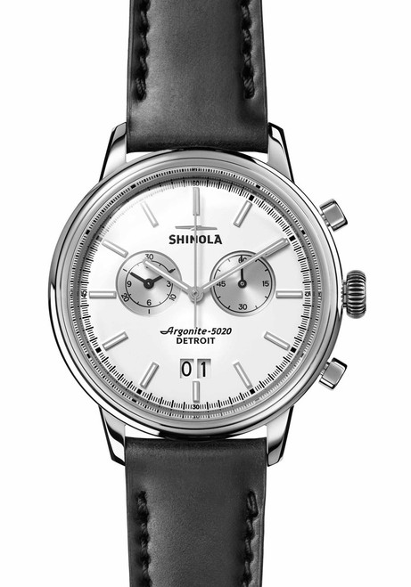 Shinola Bedrock Chrono 42mm Silver Black (S0120065289)