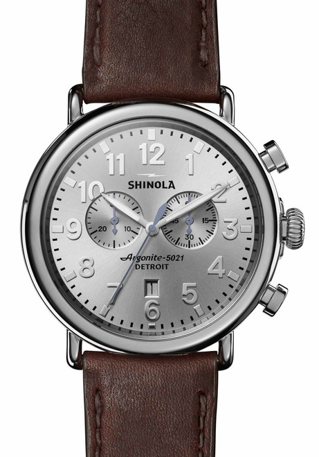 Shinola Runwell Chrono 47mm Silver Brown (S0120077936)