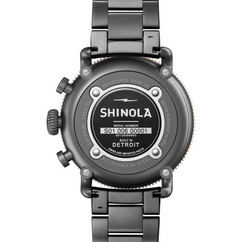 Shinola Runwell Sport Chrono 48mm Gunmetal (S0120089903)