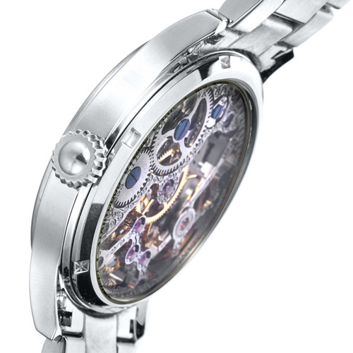 Thomas Earnshaw Bauer Hand Wind Skeleton All Silver (ES-8049-11)