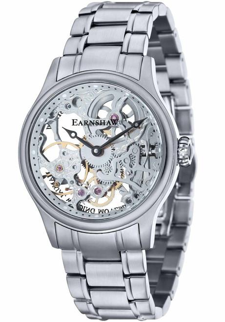 Thomas Earnshaw Bauer Hand Wind Skeleton All Silver (ES-8049-11)