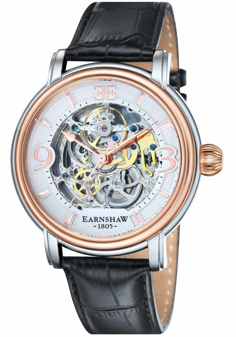 Thomas Earnshaw Longcase Automatic Silver Rose Gold (ES-8011-06)