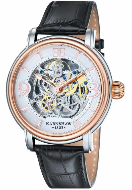 Thomas Earnshaw Longcase Automatic Silver Rose Gold (ES-8011-06)