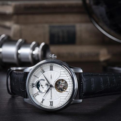 Thomas Earnshaw Longitude Moonphase Automatic Silver Black (ES-8066-01)