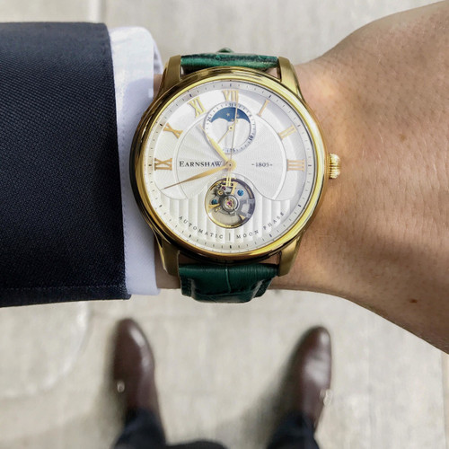 Thomas Earnshaw Longitude Moonphase Automatic Gold Green (ES-8066-03)