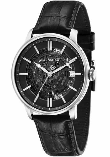 Thomas Earnshaw Vancouver Skeleton Automatic Silver Black (ES-8075-01)