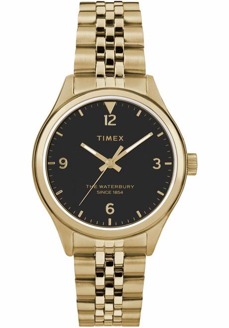 Timex Waterbury Classic 34mm Black Gold SS (TW2R69300)