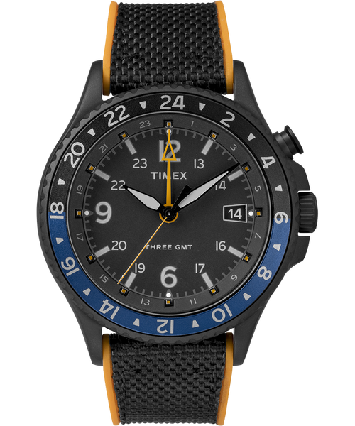 Timex Allied Three GMT Black Orange (TW2R70600)