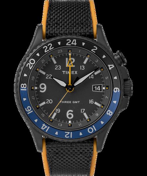 Timex Allied Three GMT Black Orange (TW2R70600)