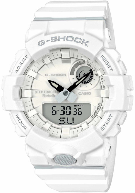 G-Shock GBA800 Bluetooth Step Tracker Training Timer White (GBA800-7A)
