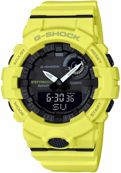 G-Shock GBA800 Bluetooth Step Tracker Training Timer Yellow (GBA800-9A)