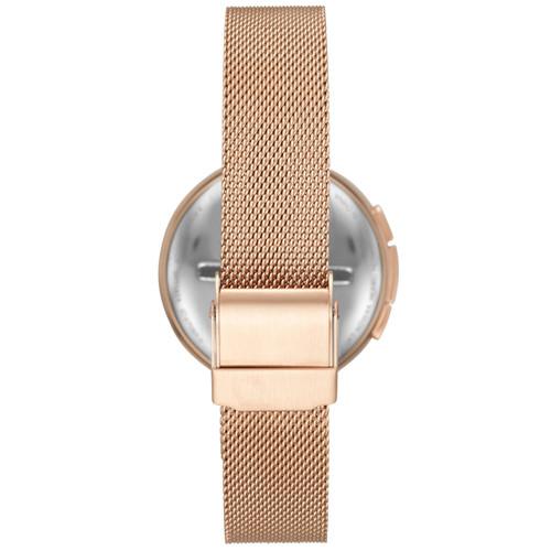 Skagen SKT1404 Signatur T-Bar Connected Rose Gold White Steel Mesh Hybrid Smartwatch