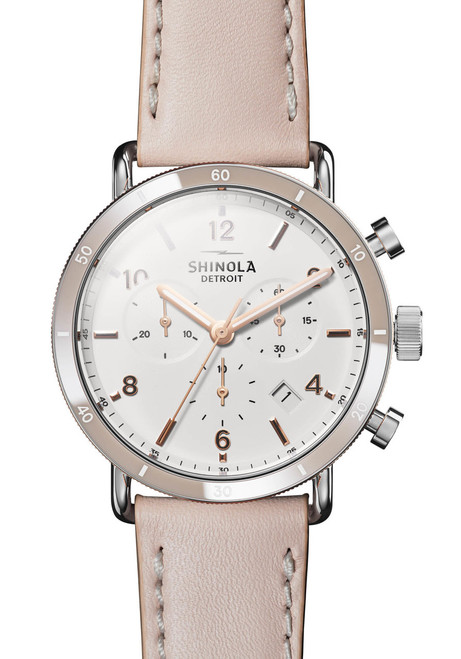 66c10aa45 Shinola Canfield Sport Chrono 40mm Blush (S0120089883) ...