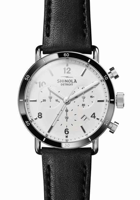 Shinola Canfield Sport Chrono 40mm White Black (S0120089888)