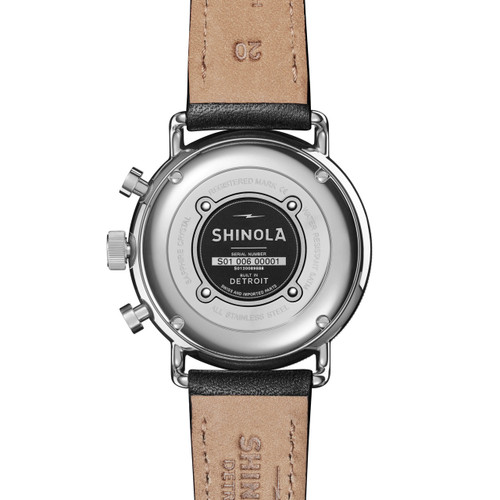 996004439 ... Shinola Canfield Sport Chrono 40mm White Black (S0120089888)