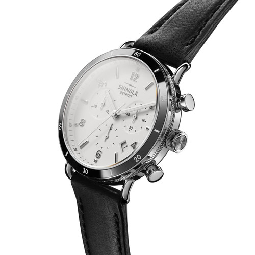 c11d6a227 ... Shinola Canfield Sport Chrono 40mm White Black (S0120089888) ...