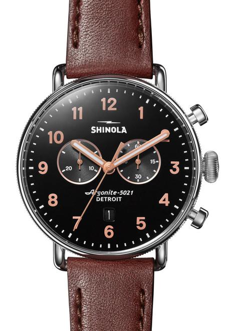 Shinola Canfield Chronograph 43mm Polished Cognac (S0120095229)
