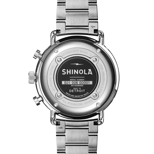 Shinola Canfield Sport Chrono Calendar 45mm Midnight Blue Steel (S0120089890)